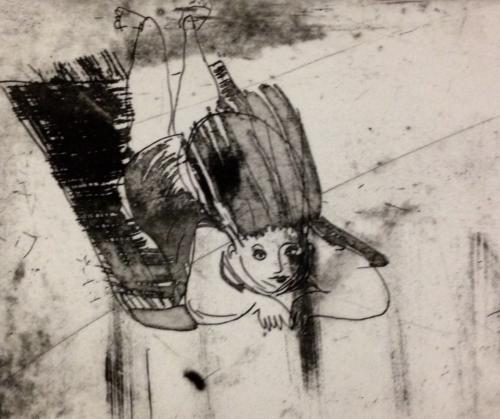 """""""Fliegender Teppich""""Detail,Aquatinta 2011"""